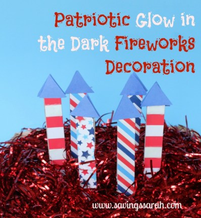 Patriotic Glow in the Dark Fireworks Decorations