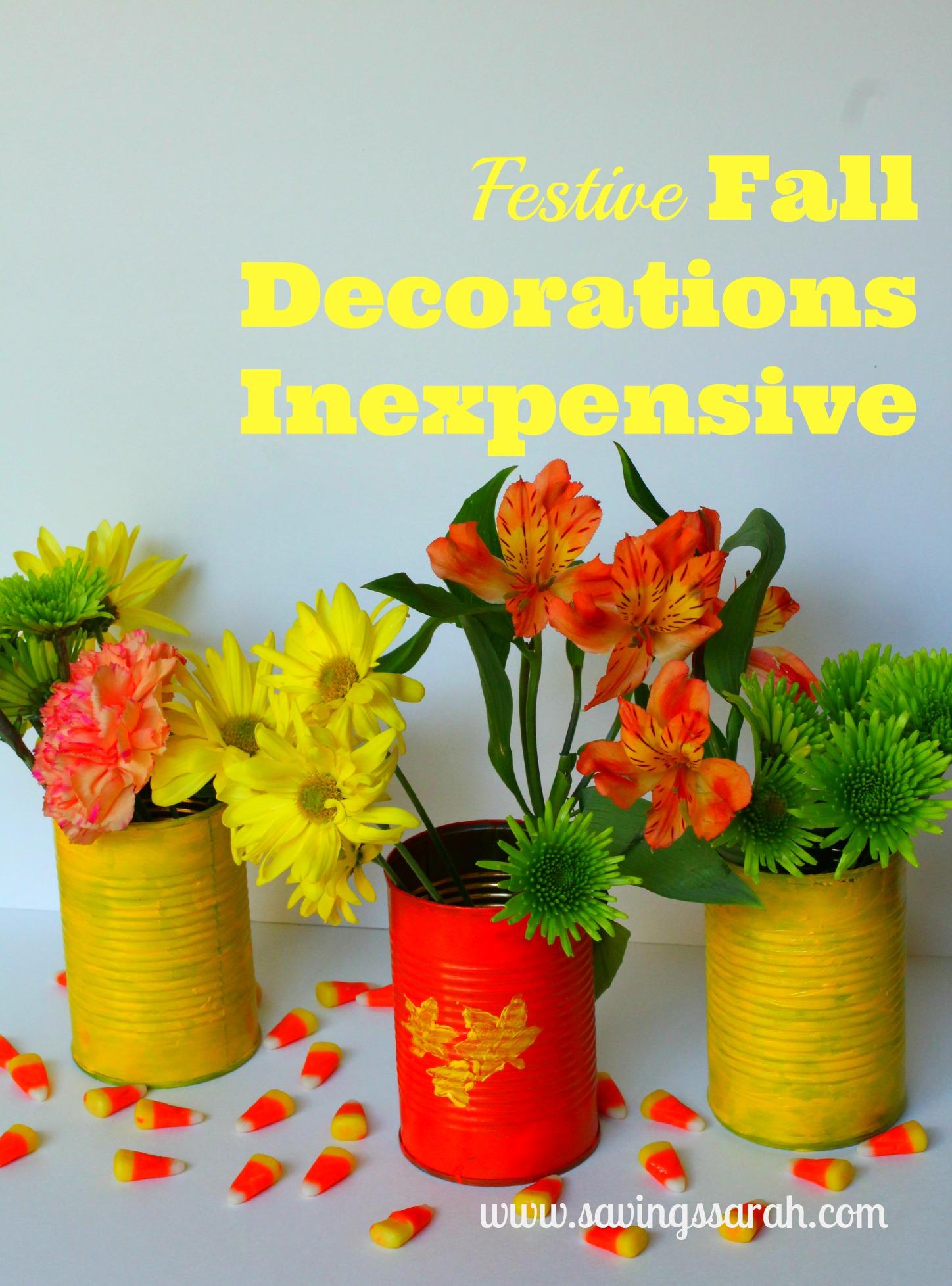 Festive Fall Decorations Inexpensive Fun