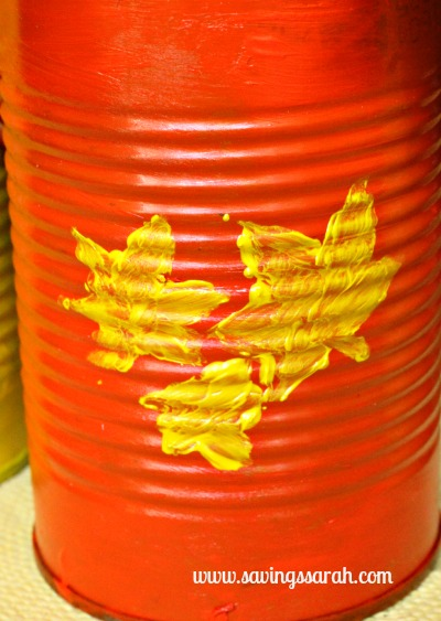 Stencil on Tin Can Vase