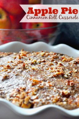 Apple Pie Cinnamon Roll Casserole