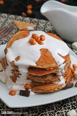 Butterscotch Smores Pancakes