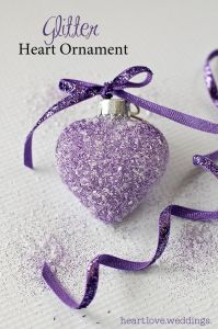 Glitter Heart Ornament