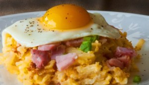 Hashbrown Casserole Ham and Eggs