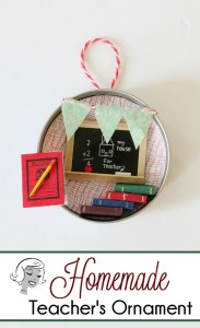 Homemade Teacher Ornament