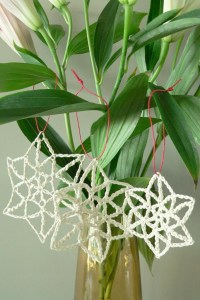 Snowfall Crochet Christmas Ornament