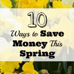 10 Ways to Save Money This Spring