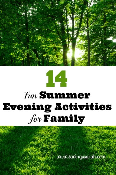 14 Fun Summer Evening Activities for Family