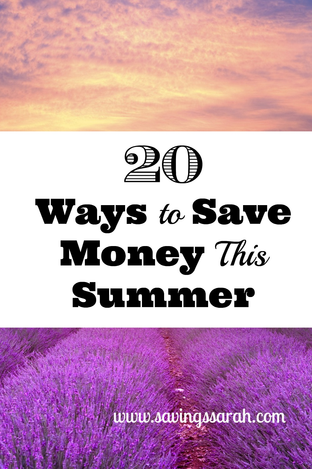 20 Ways to Save Money This Summer