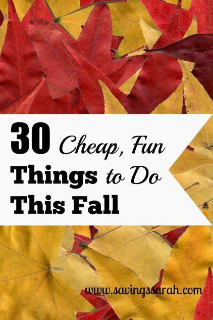 30 Cheap, Fun Things to Do This Fall