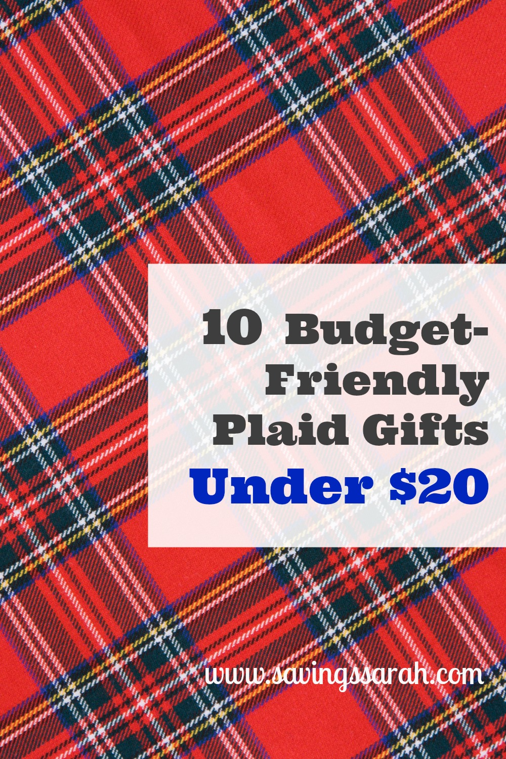 10 Budget-Friendly Plaid Gifts Under $20