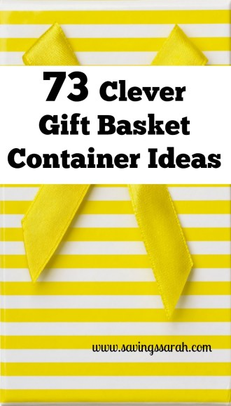 73 Clever Gift Basket Container Ideas