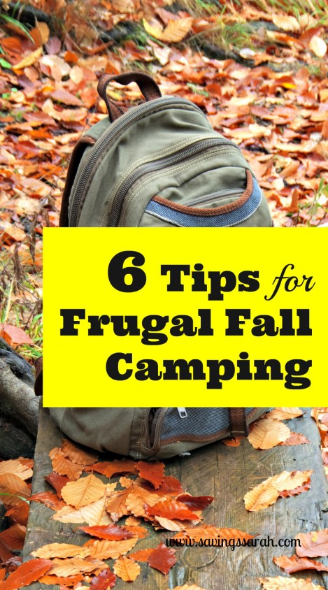 6 Tips for Frugal Fall Camping