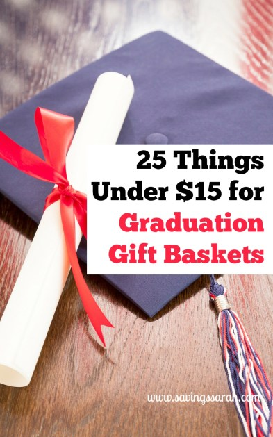 25 Tings Under $15 For Graduation Gift Baskets