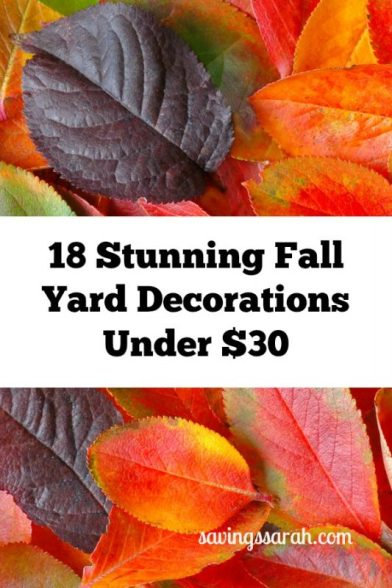 18 Stunning Fall Yard Decorations Under $30