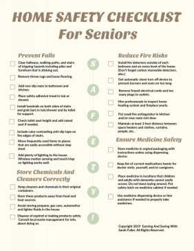 Home Safety Checklist For Seniors
