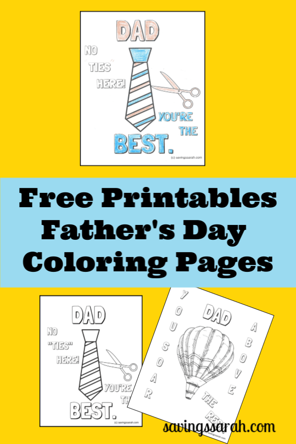 Fun Father\'s Day Coloring Pages - Earning and Saving with Sarah