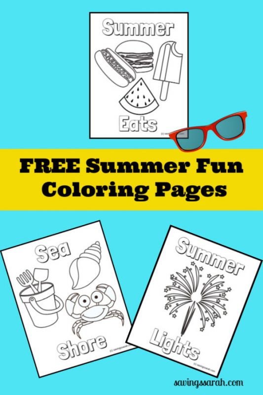 Fun Summer Coloring Pages - Earning And Saving With Sarah