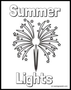 Summer Coloring Pages Summer LIghts