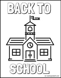 Back To School Coloring Page School House