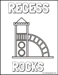 Back to School Recess Rocks Coloring Page