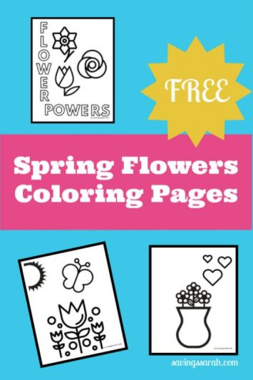 Free Spring Flowers Coloring Pages