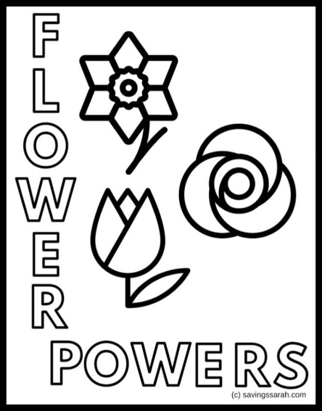 - Spring Flowers Coloring Pages Printables - Earning And Saving With Sarah