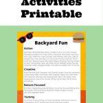 Free Fun Backyard Activities Printanble