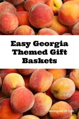 Easy Georgia Themed Gift Baskets