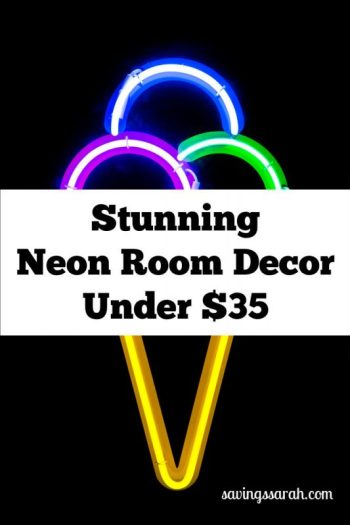 Stunning Neon Room Decor Under $35