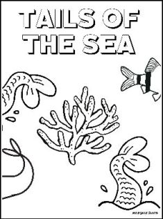 Mermaid Coloring Page Tails of The Sea