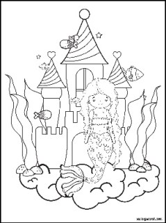 Mermaid Coloring Pages Mermaid Castle
