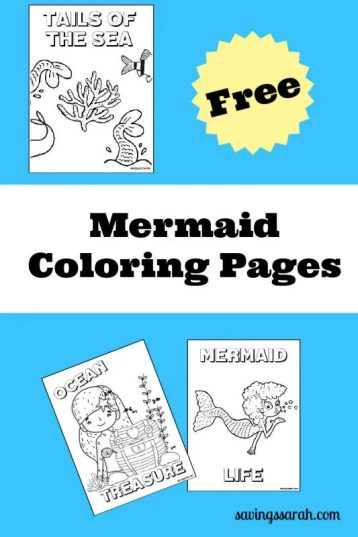 Mermaid Coloring Pages for Free Printing