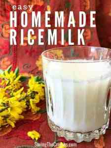 Easy Homemade Rice Milk