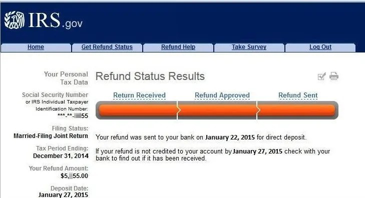 irs bars offical where is my refund wmr return received refund