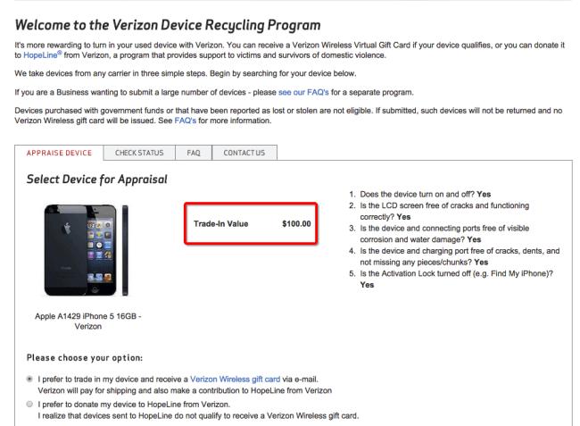 Verizon iPhone Trade-in