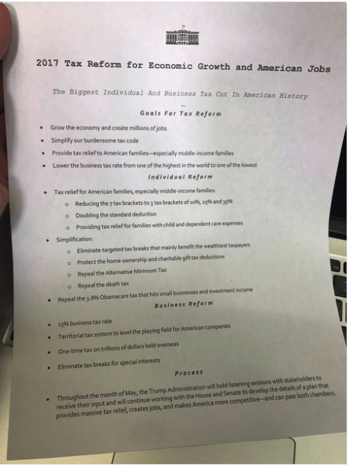 Trump Tax Plan Update