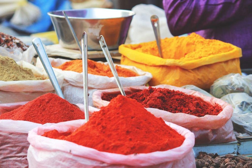 spices at international markets
