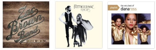 Google Play: 99¢ MP3 Album Downloads (Fleetwood Mac, Zac Brown Band