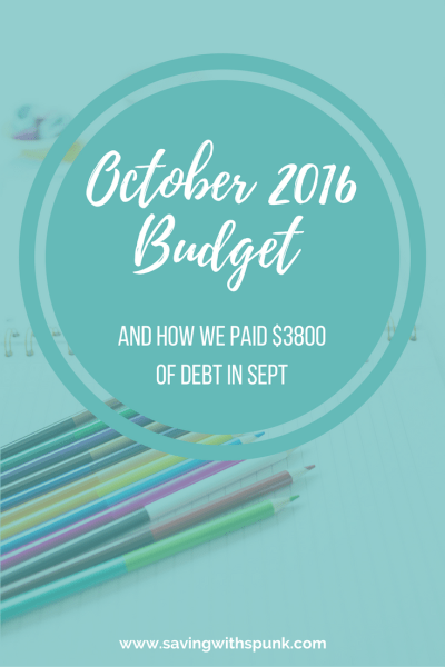 October 2016 Budget