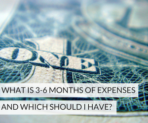3-6 Months of Expenses