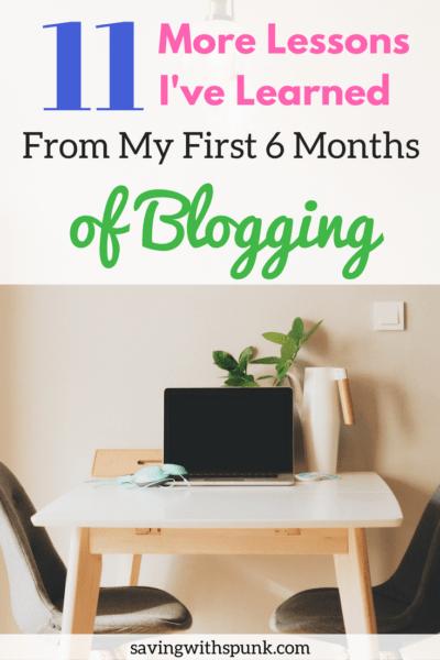 First 6 Months Blogging