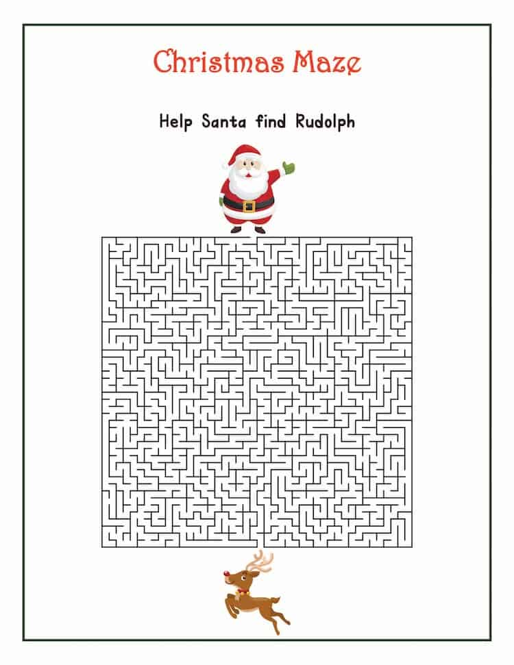 Free Christmas Printable Games Saving You Dinero