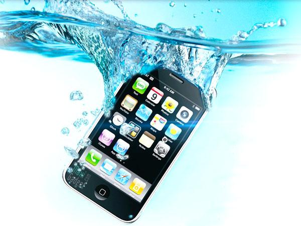 iphone dans l'eau