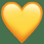 Smiley cœur jaune - Snapchat