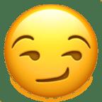 Smiley sourire en coin ou coquin - Snapchat