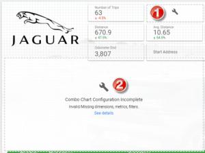 Data Studio: Jaguar I-Pace Dashboard with Missing Data
