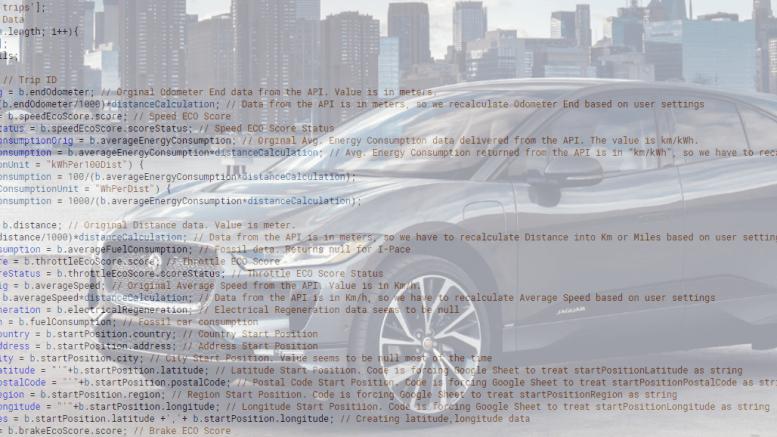 Jaguar InControl API for Google Sheets - Part 2 - Savio no