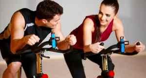 vježbanje na sobnom biciklu