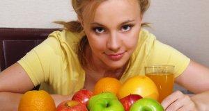 žena s voćem