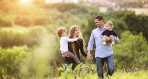 obitelj u prirodi